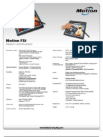 Motion Computing F5 Series Product Specifications
