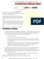 Debt Validation Defined