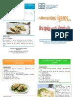 Diptico recetas