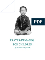 Prayer-Demands for Children, by Paramhansa Yogananda