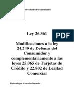 Ley 26.361. Antecedentes Parlamentarios. Argentina