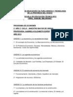 PROGRAMA ECONOMÍA -  MAESTRO MAYOR DE OBRAS