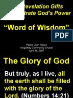 04-29-2007 revelation gifts - word of wisdom