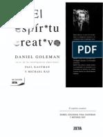 El Espiritu Creativo Daniel Goleman