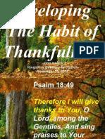 11-25-2007 habit of thankfulness