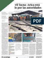 El ferrocarril Tacna-Arica está abandonado por las autoridades.
