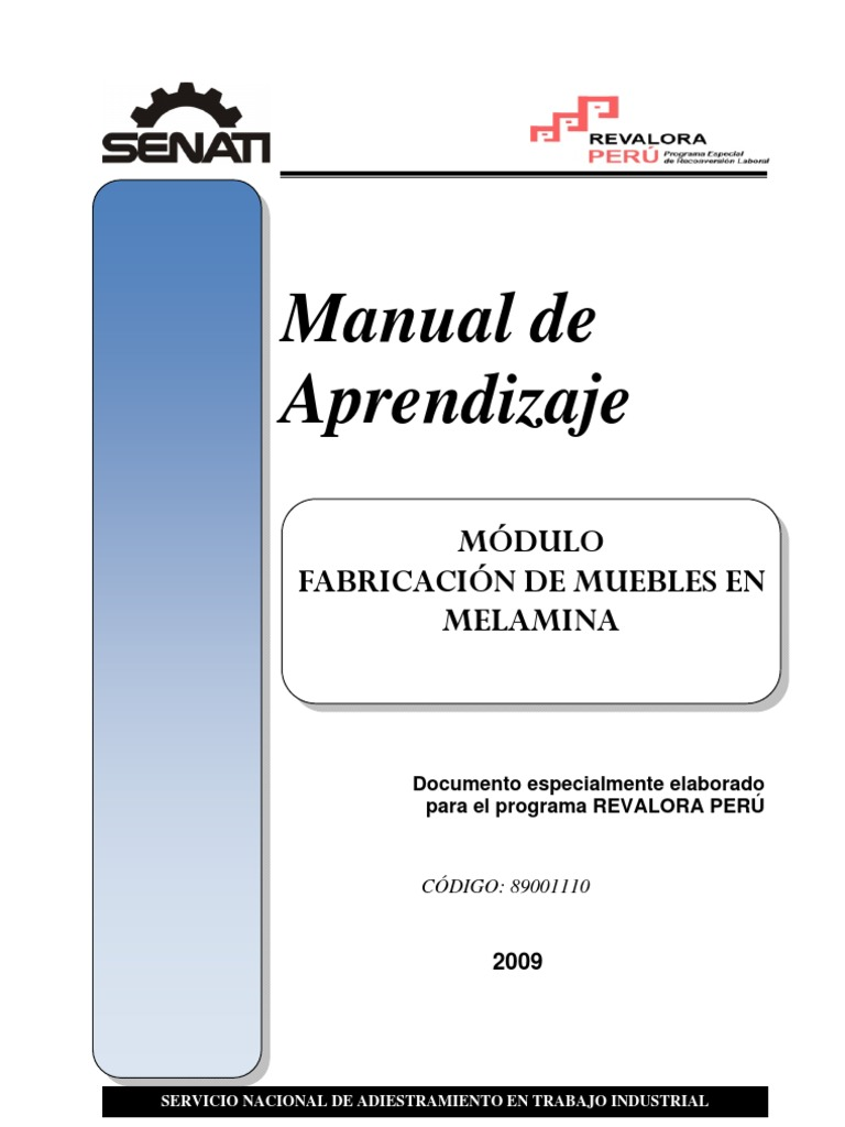 51176785 manual fabricacion de muebles en for Manual de fabricacion de muebles de melamina en pdf