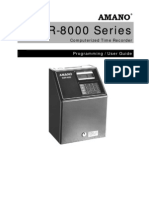 Amano MJR8000 Series Manual (1)