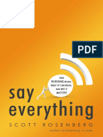 Say Everything, by Scott Rosenberg - Excerpt
