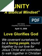 04-13-2008 unity - a biblical mindset