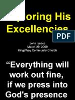 03-29-2009 exploring his excellencies - his wisdom