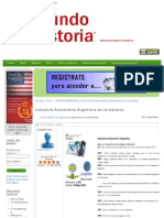 Industria Automotríz Argentina en la historia. _ Mundo Historia