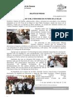 05/08/13 Germán Tenorio Vasconcelos OTORGÓ SSO MÁS DE 12 MIL ATENCIONES EN VIII FERIA DE LA SALUD