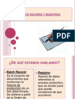 Batch Records y Registros