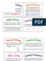spelling activities pdf