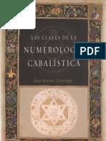 Schlezinger Aharon - Las Claves de La Numerologia Cabalistica