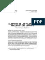 El estudio de los valores en psicología del deporte
