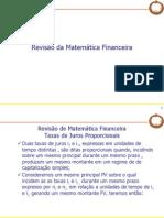 Mercado Financeiro 5 R0 - Revisão Matematica Financeira