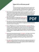Mitos y Paradojas de La Reforma Penal