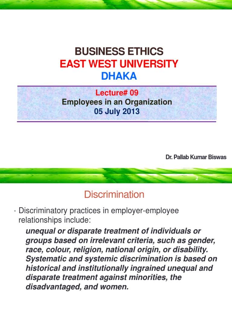 business ethics employer employee relationship