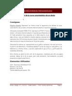 Obtención de la curva característica de un diodo