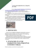 CÓMO REALIZAR UN PLAN DE MARKETING EN LA PEQUEÑA EMPRESA CONSTRUCTORA