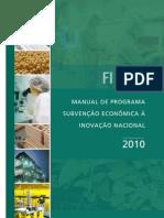 FINEP - Manual Subvencao Economica a Inovação Nacional