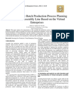 Research on the Batch Production Process Planning Problem of Assembly Line Based on the Virtual Enterprises