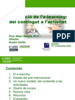 Evolucio de l'Elearning_Del Contingut a l'Activitat_UJI_Des2012