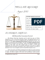 The Appellate Record - August 2013