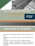 Inovation and Creativity