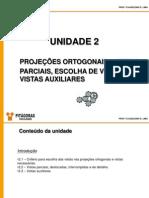 1 - D. Téc. Mecânico - Projeções ortogonais, vistas parciais e vistas auxiliares