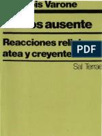VARONE F - El Dios Ausente - Sal Terrae 1987