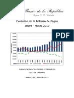 Balanza de Pago Colombia_2012-2013