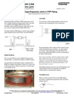 Hinged Expansion Joints in FRP Piping