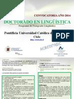 Convocatoria Doct Ling - Pucv 2014