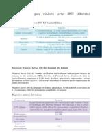 Requerimientos de Sistema Para Windows Server 2003