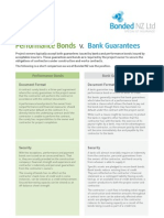 Performance Bonds and Bank Guarantees
