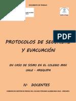 Protocolos de Seguridad y Evacuacion en Caso de Sismo