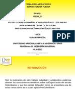 trabajo colaborativo 2 administración publica UNAD