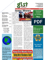 Gist Weekly Issue 26 - Game Shows
