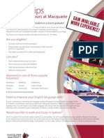 Study Tours Internship Flyer