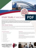 Study Tours Tesol Flyer 2013