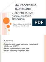 Data Processing-Social Sciencel Research BDG
