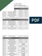 December 2013 Exam Schedule