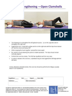 Gluteal Strengthening Open Clamshell