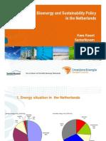 Bioenergy and Sustainability Policy Netherlands 2008