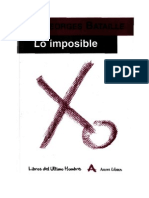 Georges Bataille, Lo Imposible, Arena Libros, Madrid, 2001.