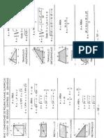 Tabla Areas y Distancias de Figuras