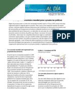 (2009) El desplome económico mundial pone a prueba las políticas